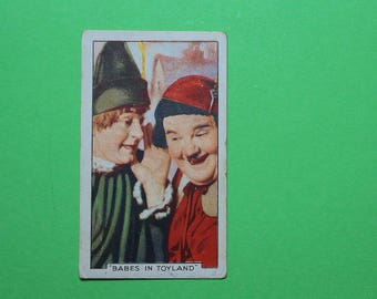 Vintage Cigarette Card Gallaher Ltd Film Stars Famous Film Scenes 1935 Laurel and Hardy Have 1/48 for sale Very Good Condition