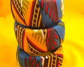 Ankara Bracelets, Big bracelets, bracelets, fabric bracelets, African Bracelets, Blue Bracelets, Square Bracelets, Women Accessories