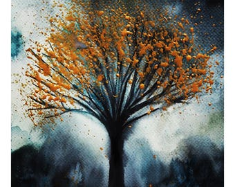 The Gold Leaf Tree Print