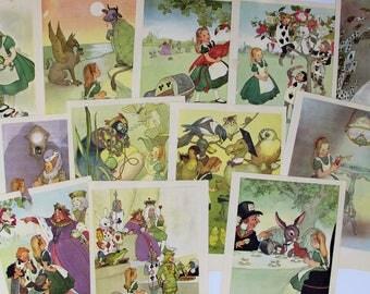 vintage Alice In Wonderland book illustrations, Alice in Wonderland wall art, Mad Hatter art