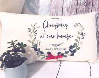 Personalised Christmas At Our House Cushion - Christmas - Cushion