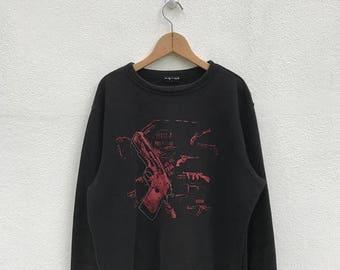 20% OFF Vintage Andy Warhol Pistol Design Sweatshirt / Andy Warhol Sweater / Andy Warhol Pop Art