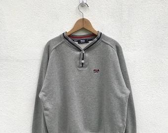 20% OFF Vintage Fila Sport Embroidery Logo Sweatshirt / Fila Sport Sweater / Fila Golf / Fila Tennis / Fila Biella Italia