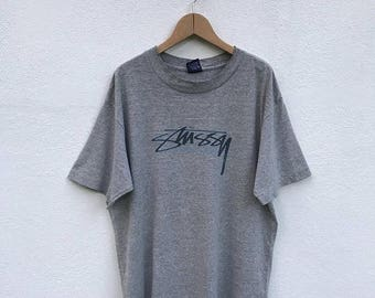 20% OFF Vintage Stussy Spell Out T Shirt/Stussy Big Logo/Streetwear Clothing/Skater/Hiphop