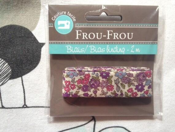 FLORAL bias Lavender roses - Frou-Frou