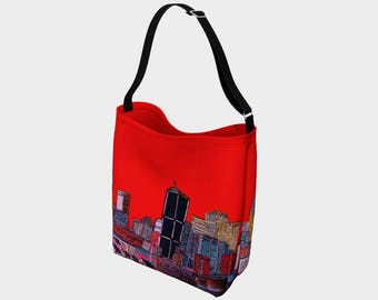 SAC-fourre-tout-a-tout-faire Montreal under the Red - Red Day Montreal Tote Bag