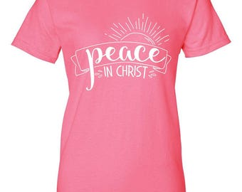 Peace in Christ 2018 Youth Mutual Theme Shirt Design File for LDS Girls Camp, Trek, Youth Conference