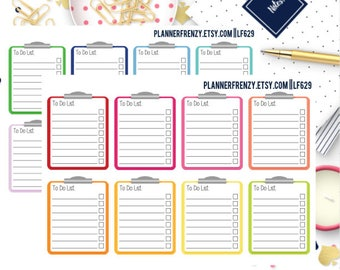 "16 ""To Do List"" Clipboard Planner Stickers! LF629"