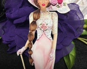 Arabella Victorian Lady Chipboard Embellishments 3D Roses DarlingArtByValeri Scrapbooking Mini Album Card Making Birds Woman