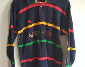 Rare Vintage CANTWRBURY Of New Zealand Rugby Shirt Size M