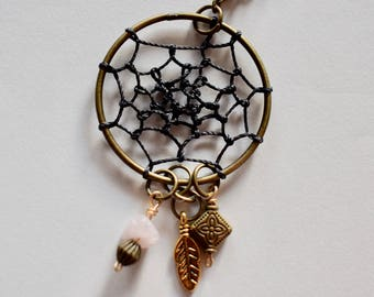 Dreamcatcher and FEATHER Charm Necklace