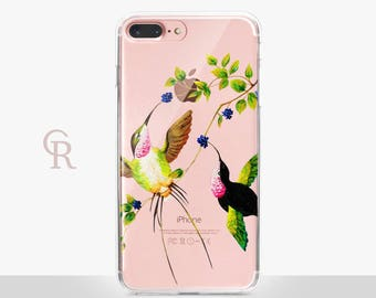 Hummingbirds Clear Phone Case For iPhone 8 iPhone 8 Plus iPhone X Phone 7 Plus iPhone 6 iPhone 6S  iPhone SE Samsung S8 iPhone 5 Transparent