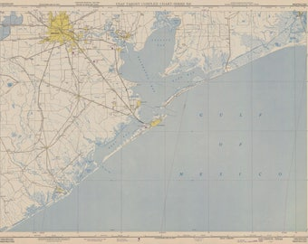 Galveston Bay Map 1950