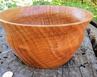 "Spalted and figured Big Leaf Oregon Maple Bowl 7 1/2"" x 4"" high"