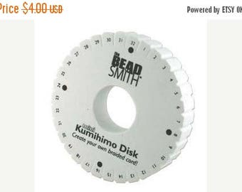 On Sale 4.25 inch Mini 32-Slot Thick Kumihimo Disk,  Double-Density Kumihimo Disk, BeadSmith