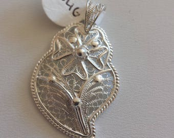 Filigree Sterling Silver Pendant, Sterling Pendant, Filigree Pendant