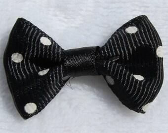1 x big flood black polka dot bow