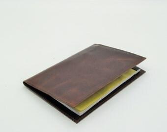Leather Folio, Medium Size Leather Portfolio, Business Notepad, Business Folio Case, Leather Writing Pad Portfolios by Barismil.