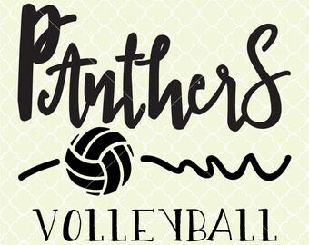 Panthers Volleyball SVG DXF Files for Cricut Design, Silhouette studio.