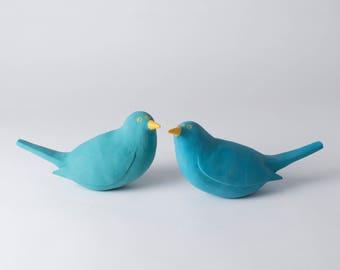 Ceramic Blackbird, Bird Decor, Bird Lover, Bird Home Decor, Blackbird Gift, Blue Bird