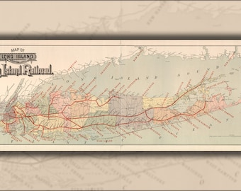 Poster, Many Sizes Available; Map Of Long Island With Long Island Railroad 1895