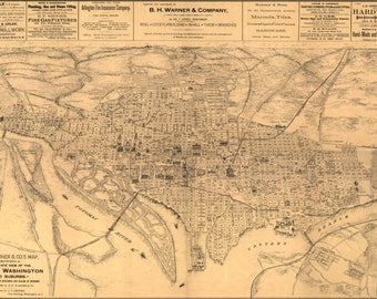 Poster, Many Sizes Available; Birdseye View Map Of Washington D.C. 1886 P2