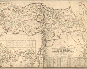 Poster, Many Sizes Available; Map Of Ottoman Empire Admin Divisions 1899