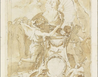 Poster, Many Sizes Available; Giovanni Battista Tiepolo Design For Dedication Page To Charles Iii Of Spain And The Two Sicilies