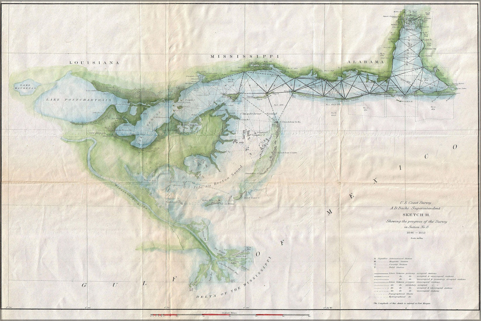 Poster Many Sizes Available 1853 US Coast Survey Map Of