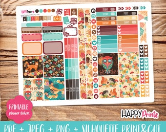 Autumn Printable Planner Stickers.