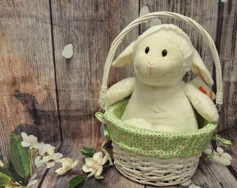 Easter Basket, Personalized Easter Basket, Wicker Easter Basket, Monogram Easter Basket, Personalizable Easter Basket, Wicker Basket