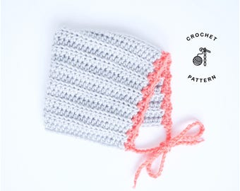 Crochet Pattern for The Penelope Baby Bonnet