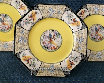WEDGWOOD HONOLULU PATTERN -  Set of 3 Lunch/Salad Plates,  c.1900 - 1906+