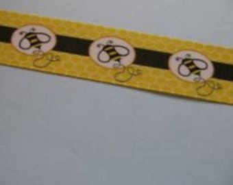 Bee (by the yard) 25mm Ribbon