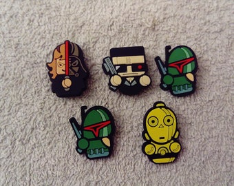 Lot 5 jibbitz Star wars (badges for fangs)