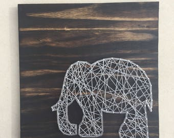 Elephant String Art/Elephant nursery art/ Elephant Sign/Nursery Decor/Wood Nursery Sign
