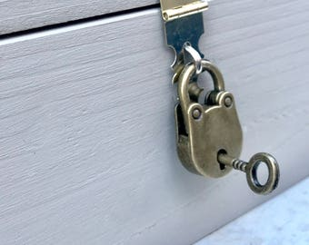 Add a, Hasp, Lock, and Key