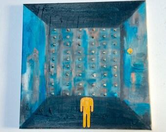 "Contemporary art - painting modern art - ""Lost"" - Wilcox"
