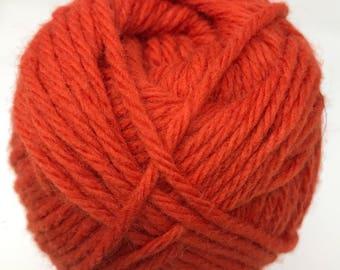 Orange Wool Yarn - Cascade Yarns Boliviana 100% Merino Wool #24 Orange