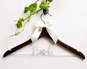 Bride hanger,wedding hanger,Mrs hanger, Bridal Shower Gift, Personalized Bride Hanger, Personalized Custom Wedding Hanger, dress hanger,