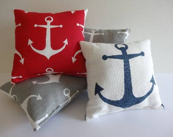 Baby Pillow, Baby Anchor Pillow, Baby Picture Prompt, Picture Prompt, Anchor Nursery decor, Nautical Nursery Pillow, Nautical Pillow