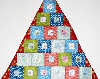Christmas tree advent calendar ^ ^ 24 multicolored squares