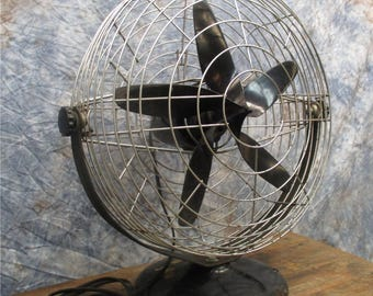 "1947 Roto Beam Electric Fan 3 Speed 16"" Airplane Propeller Blades Mid Century"