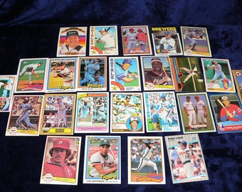 1970s & 80s Big Lot Baseball Card Starter Collection 25 Superstar Cards