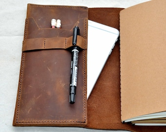 Handmade unique personalized Leather Journal Notebook.