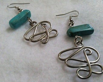 Earrings - Tangled Pathway - Turquoise - 1 - 07-26-2017