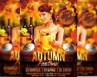 Autumn Festival – Premium Flyer Template + Facebook Cover