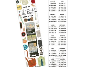 Bookmarks Best Life Ever 2018 Year Text, Bible Reading Schedule, JW Gift, Our Christian Life and Ministry, Jehovah's Witnesses, Pioneer Gift