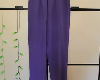 Vintage Carol Potter Silk Purple Pants