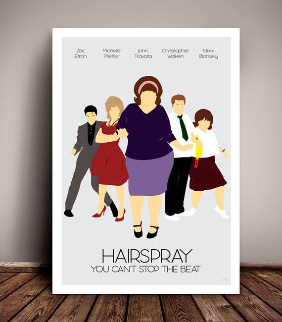 Hairspray // Minimalist Movie / Musical Poster // Unique A4 / A3 Art Print